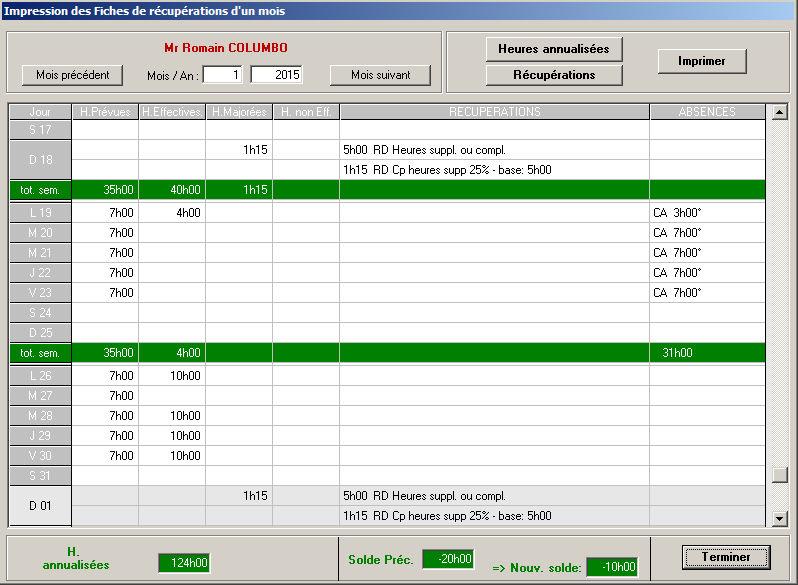 modele planning heures supplementaires - CCMR